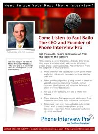 Paul Bailo – Phone Interview Pro